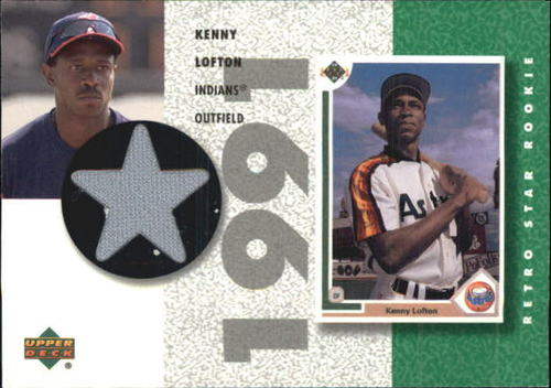 Photo of 2002 UD Authentics Retro Star Rookie Jerseys #SRKL Kenny Lofton