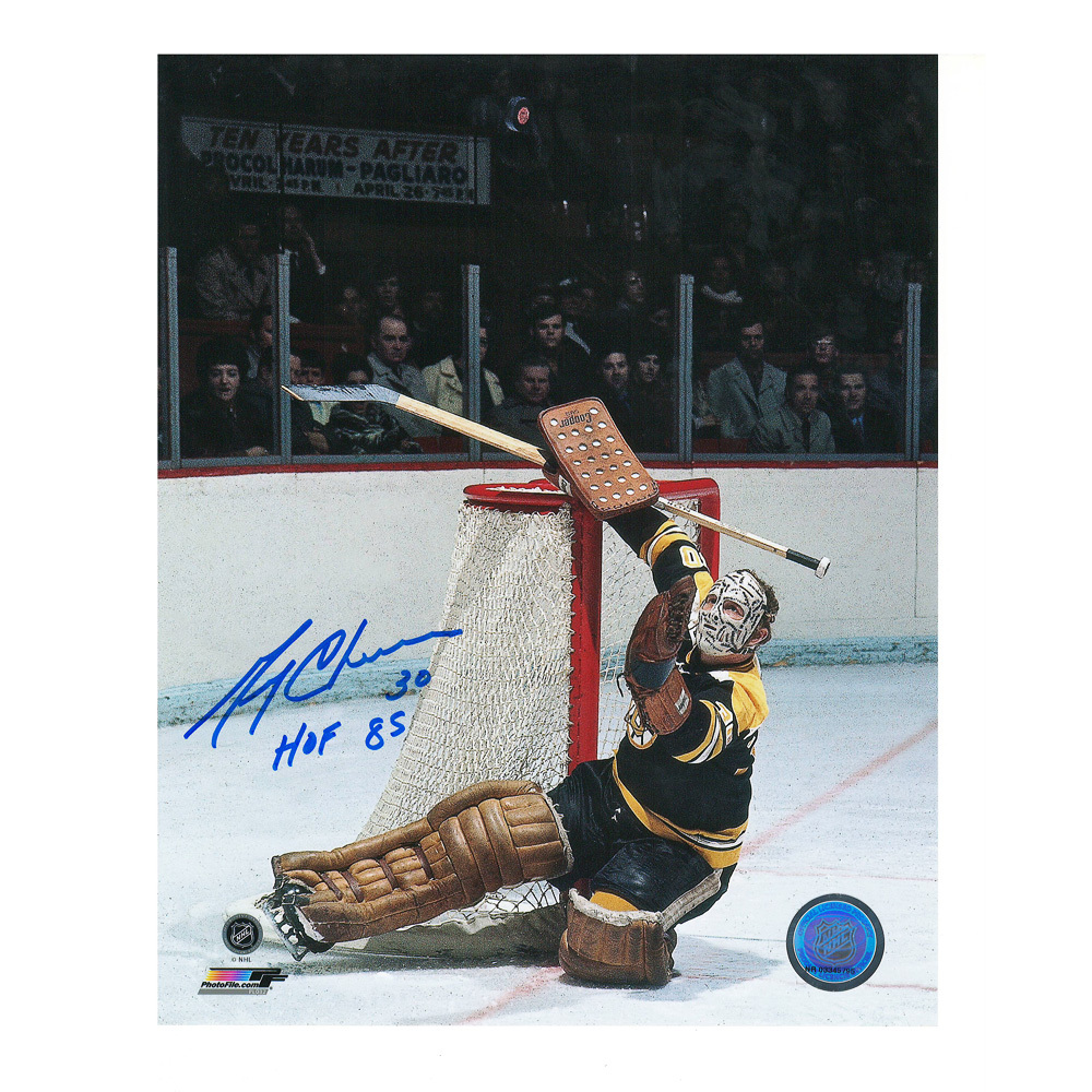 GERRY CHEEVERS Signed Boston Bruins 8 X 10 Photo - 70426