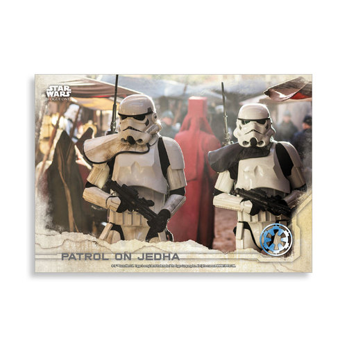 Patrol on Jedha 2016 Star Wars Rogue One Series One Base Poster - # to 99