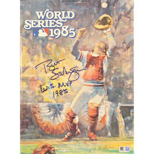 1985 World Series Official Program Autographed by Bret Saberhagen