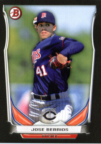 Photo of 2014 Bowman Draft Top Prospects Asia Black #TP19 Jose Berrios