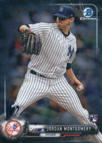 Photo of 2017 Bowman Chrome #44 Jordan Montgomery Rookie Card  -- Yankees post-season
