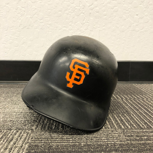 Photo of San Francisco Giants - 2017 Game Used Helmet used by #6 Jarrett Parker on 9/11/17 & 10/1/17
