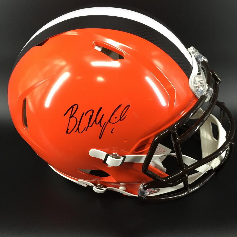 NFL - BROWNS QB BAKER MAYFIELD SIGNED BROWNS REVOLUTION HELMET