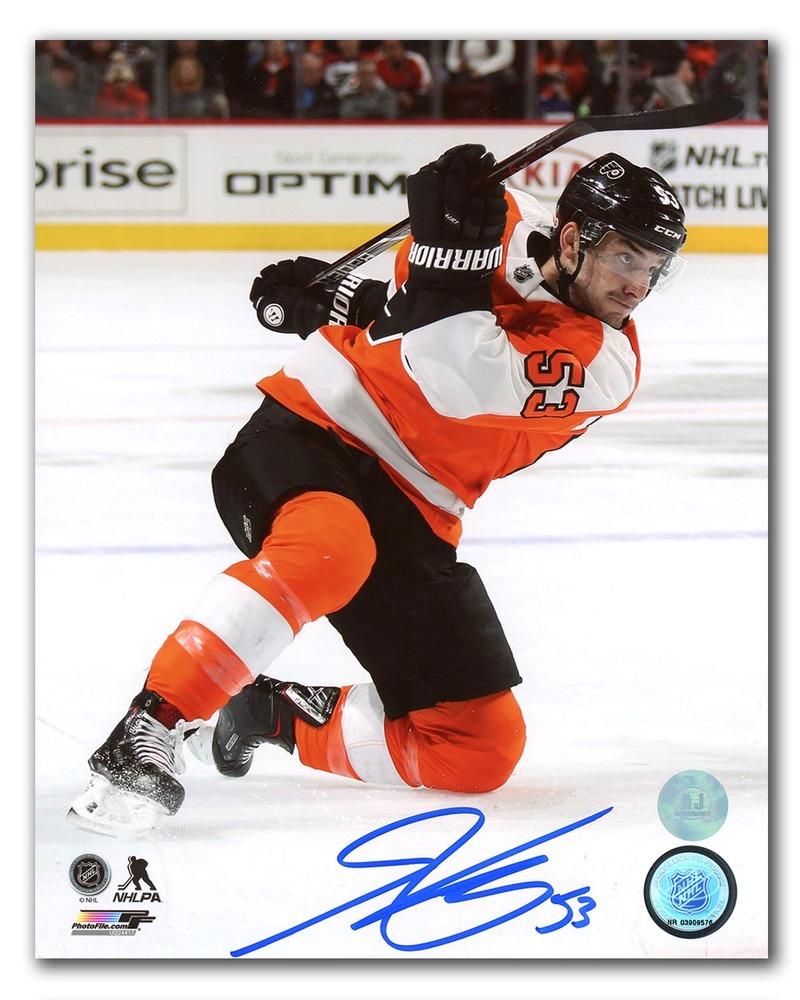 Shayne Gostisbehere Philadelphia Flyers Autographed Hockey Action 8x10 Photo