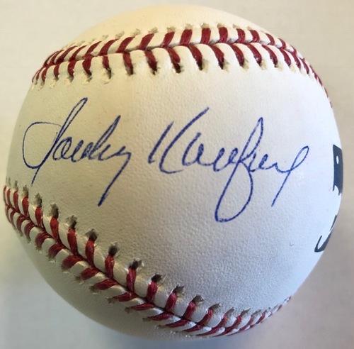 Clayton Kershaw & Sandy Koufax Dual Autographed Baseball