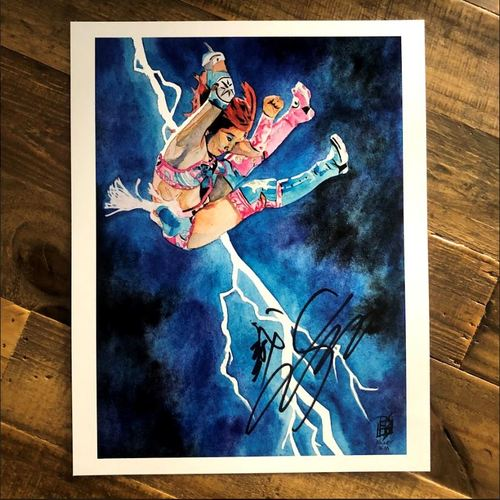 Photo of Kairi Sane SIGNED 11 x 14 Rob Schamberger Print
