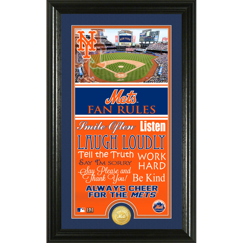 Photo of New York Mets Fan Rules Supreme Bronze Coin Photo Mint