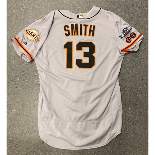 Photo of 2016 Game Used Postseason Road Jersey worn by #13 Will Smith - Size 50