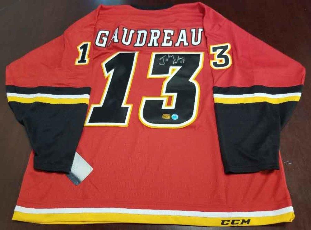 Johnny Gaudreau Calgary Flames Autographed CCM Mass Hockey Jersey