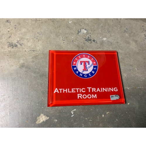 Photo of Home Clubhouse Door Sign - ATHLETIC TRAINING ROOM