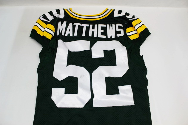 pretty nice 7b037 1533d NFL Auction | CLAY MATTHEWS GAME WORN PACKERS JERSEY 10/12/2014