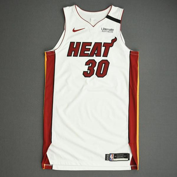 Image of Chris Silva - Miami Heat - Game-Issued Association Edition Jersey - 2019-20 NBA Season Restart with Social Justice Message