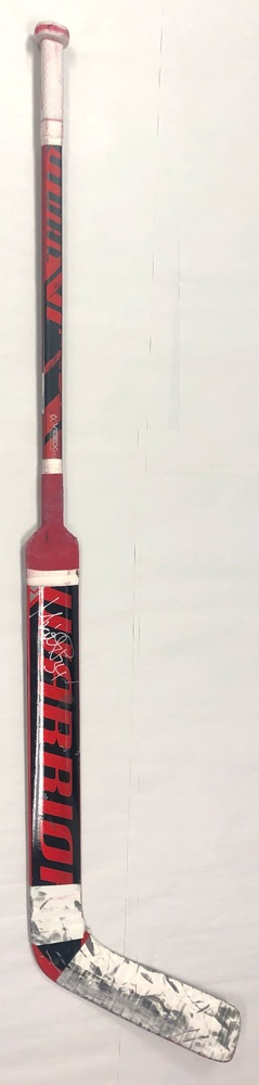 #34 Petr Mrazek Game Used Stick - Autographed - Carolina Hurricanes