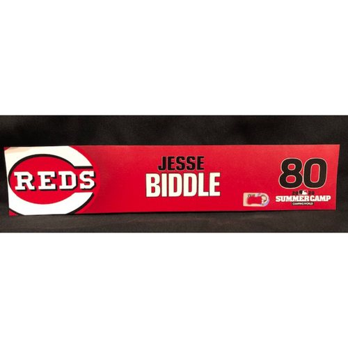 Photo of Jesse Biddle -- 2020 Sumer Camp Locker Tag -- Team-Issued