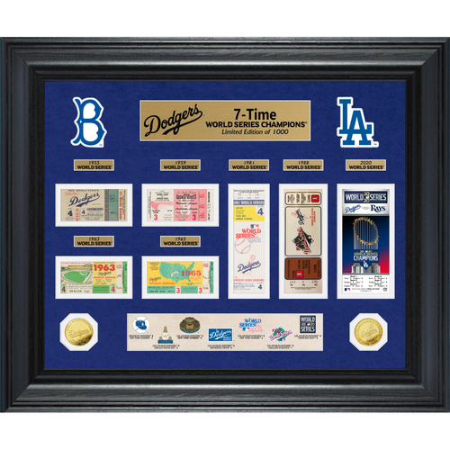 Photo of Los Angeles Dodgers 7-Time World Series Champions Gold Coin & Ticket Collection