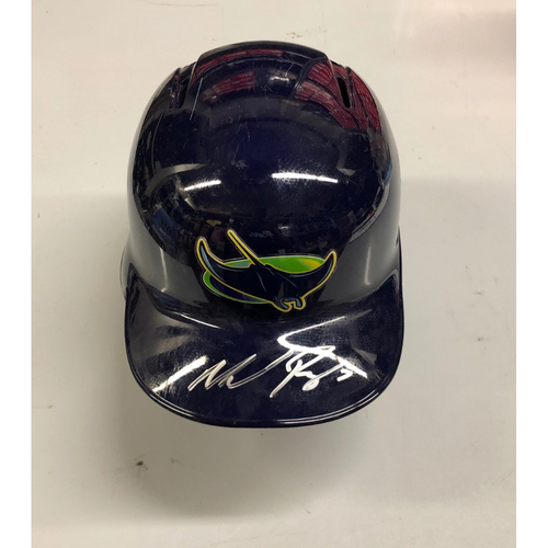 Photo of Team Issued Autographed Devil Rays Helmet: Michael Perez