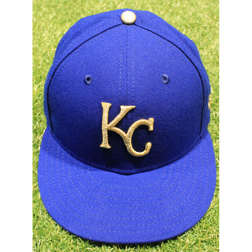 Photo of Game-Used 2019 Gold Cap: Jakob Junis #65 (MIN @ KC 9/27/19)