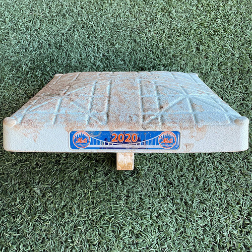 Photo of Game Used Base - 2nd Base, Innings 7-9 - Rays Clinch AL East Division - Alonso Double, Frazier HR - Mets vs. Rays - 9/23/20