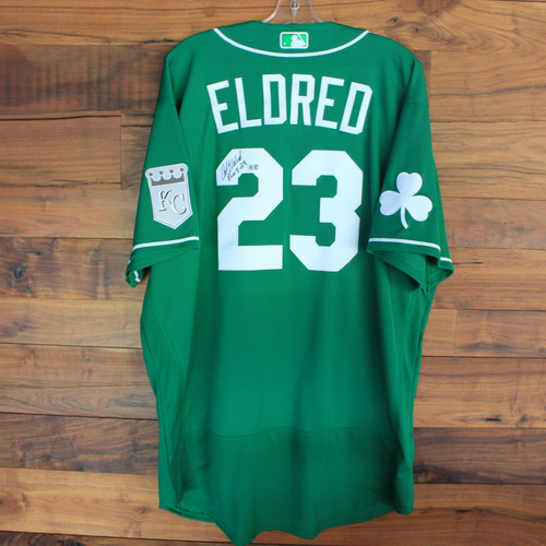 Photo of Autographed 2020 St. Patrick's Day Jersey: Cal Eldred #23 - Size 52