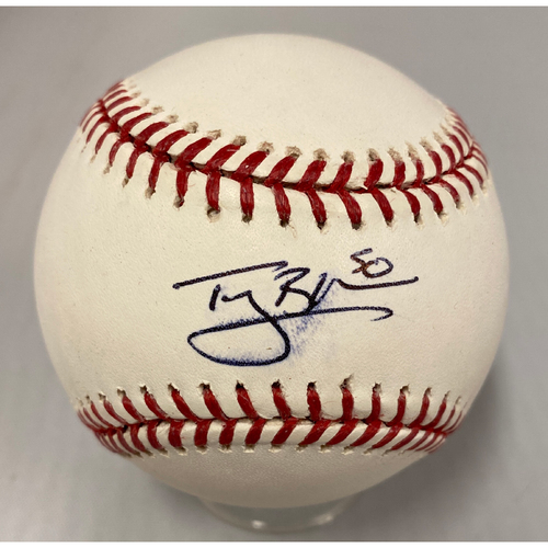 Photo of Giants Community Fund - Smudged Autographed Baseball signed by #50 Ty Blach