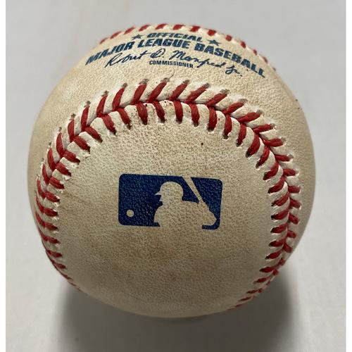 Photo of 2021 Game Used Baseballused on 8/11 vs. ARI - T-1: Gausman to VanMeter - Strike Out Swinging