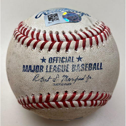 Photo of Game-Used Baseball:  Alex Verdugo Boston Red Sox Double (MLB AUTHENTICATED)