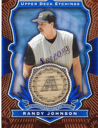 Photo of 2004 Upper Deck Etchings Game Bat Blue #RJ Randy Johnson