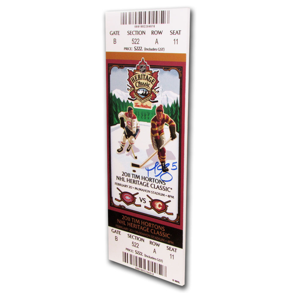 Mark Giordano Autographed 2011 Heritage Classic Mini-Mega Ticket