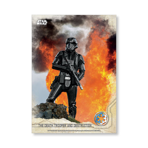 The Death Trooper and destruction 2016 Star Wars Rogue One Series One Base Poster - # to 99