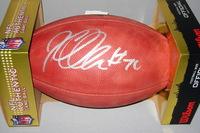 NFL - RAIDERS KELECHI OSEMELE SIGNED AUTHENTIC FOOTBALL