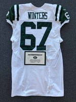 New York Jets - 2016 #67 Brian Winters Game Worn Jersey