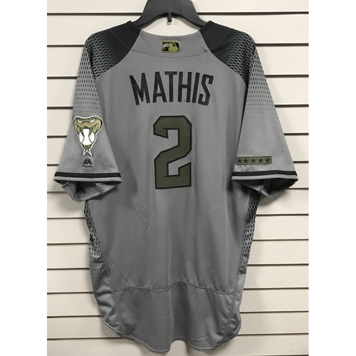 Photo of Jeff Mathis Game-Used Memorial Day Jersey