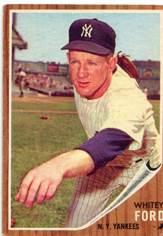 1962 Topps 310 Whitey Ford Hall Of Famer