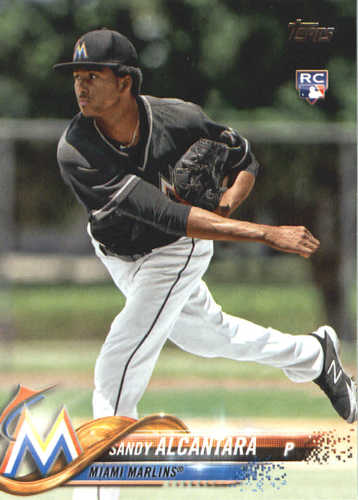Photo of 2018 Topps #594 Sandy Alcantara RC
