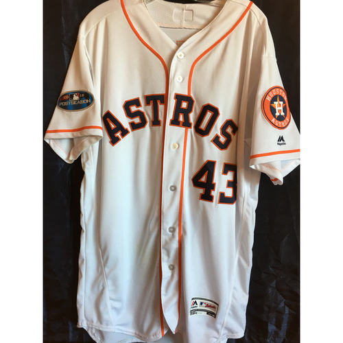 Photo of Lance McCullers Game-Used 2018 Postseason jersey