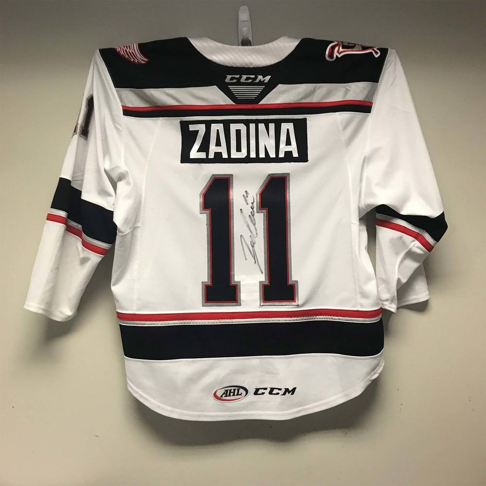 Grand Rapids Griffins Regular Season Jersey worn and Signed by #11 Filip Zadina