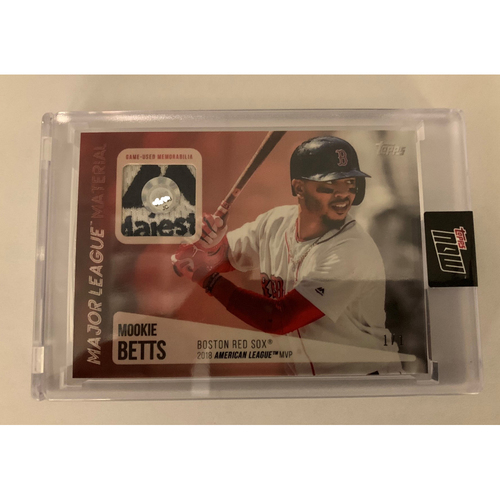 Mookie Betts Topps Now Game Used Jersey Card #1/1