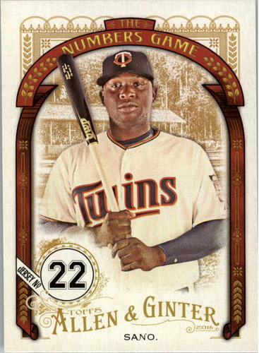 Photo of 2016 Topps Allen and Ginter The Numbers Game #NG93 Miguel Sano