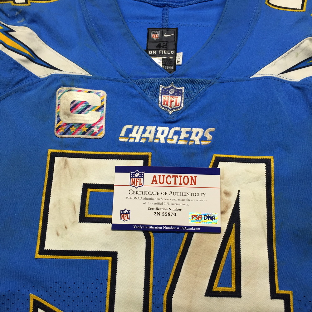 NFL Auction | Crucial Catch - Chargers Melvin Ingram Game Used ...