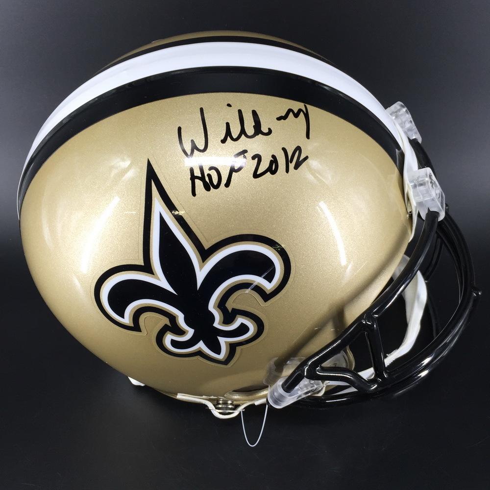 HOF - Saints Willie Roaf Signed Proline Helmet