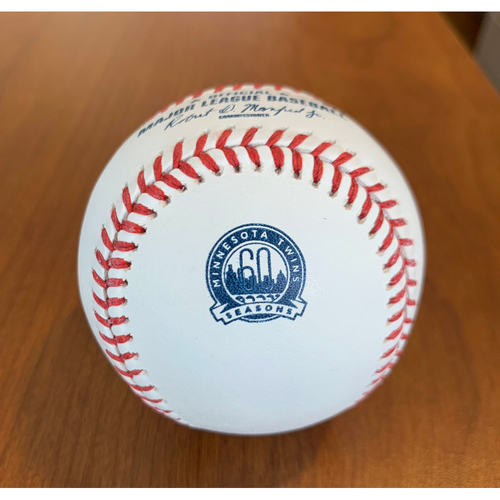 Photo of 2020 Minnesota Twins Game-Used Baseball (June) - PRESALE: Choose your Game Date!