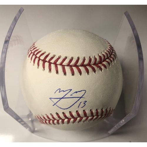 Photo of Manny Machado Autographed Baseball
