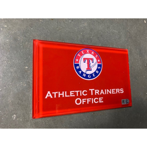 Photo of Home Clubhouse Door Sign - ATHLETIC TRAINERS OFFICE