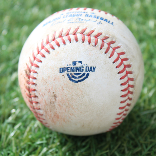 Photo of Game-Used Opening Day Baseball: Batter - Starling, Pitcher - Keuchel, Strikeout, Bottom 4 (7/31/20 CWS @ KC)