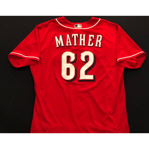 Photo of Joe Mather -- 2020 Spring Training Jersey -- Team-Issued -- Size 48