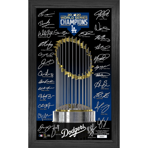 Photo of Los Angeles Dodgers 2020 World Series Champions Signature Trophy