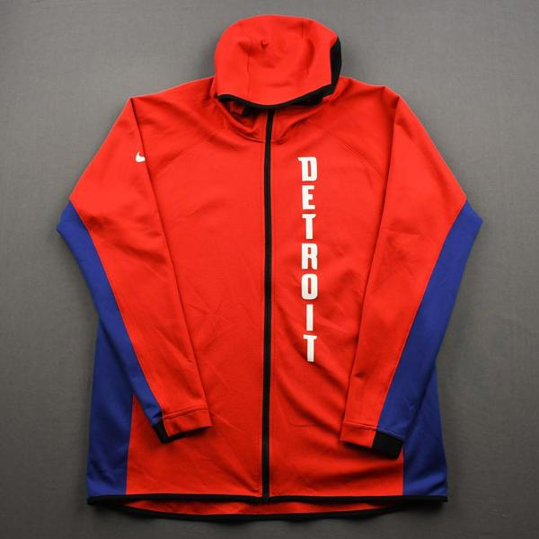 Image of Derrick Rose - Detroit Pistons - Game-Issued Earned Edition Game Theater Jacket  - 2019-20 NBA Season