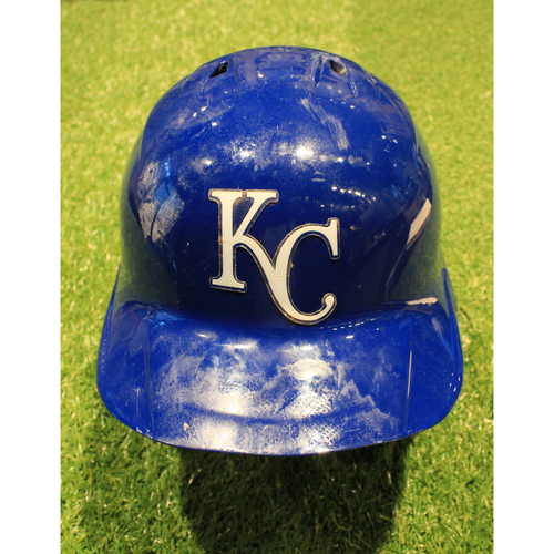 Photo of Game-Used Helmet: Edward Olivares #14 (DET @ KC 9/26/20)