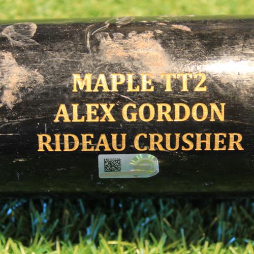 Photo of Team-Issued Broken Bat: Alex Gordon #4
